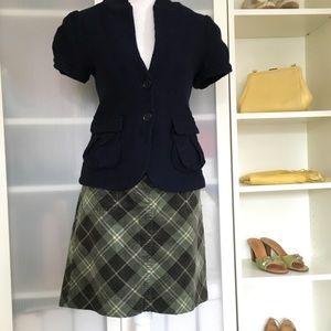 Loft corduroy plaid mini skirt